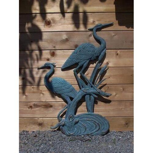 dsf Bronzefigur Zwei Reiher zum Hängen