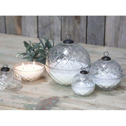 CA Glas Kugel m. Kerze und Diamantenschliff M von Chic Antique