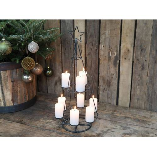 CA Weihnachtsbaum für 9 Teelichter von Chic Antique