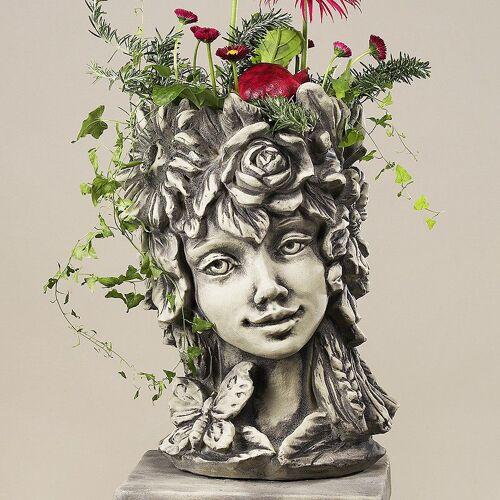 Zauberblume Blütentopf Sommer, Betonguß,von Zauberblume
