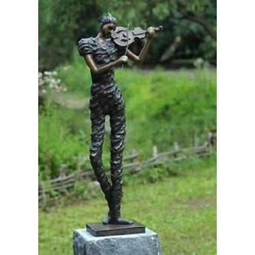 dsf Bronzefigur Geigenspieler modern