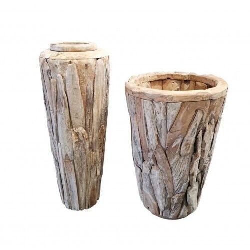 GK Teakholz Vase H 125 x 45 cm