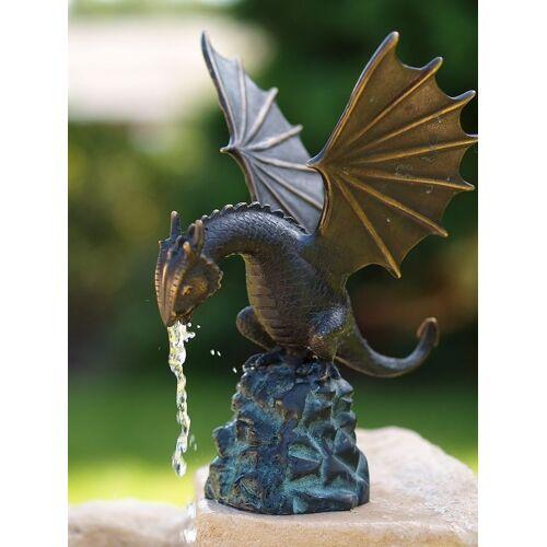 dsf Bronzefigur Drache klein wasserspeiend