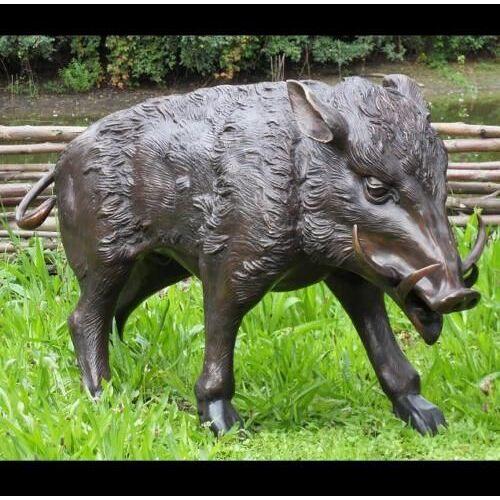 TB Bronzefigur Wildschwein