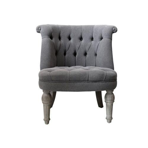 CA Französischer Sessel in Leinenstoff von Chic Antique
