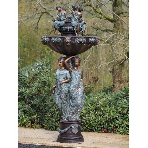 TB Brunnen mit 7 Frauen aus Bronze