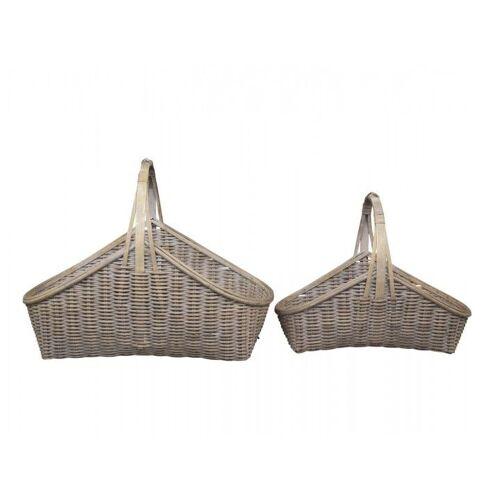 CA Franz. Korb bambus Satz von 2 von Chic Antique