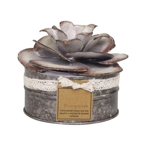 CA Französische Duftkerze mit Rosendekor breit von Chic Antique