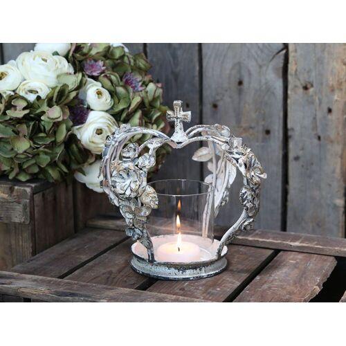 CA Krone Kerzenständer mit Rosen von Chic Antique