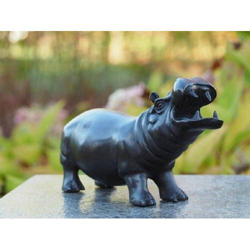 TB Bronzefigur Nilpferd/Hippo