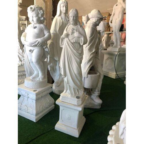 """dsf Gartenfigur """"Jesus"""" mit Sockel"""