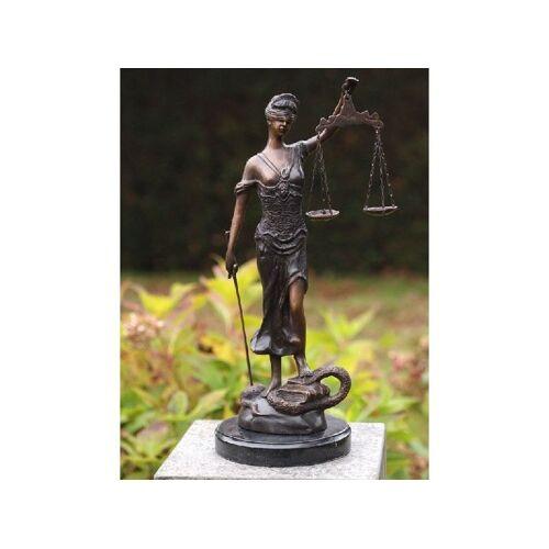 TB Bronzefigur Justitia klein