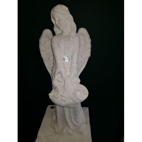 dsf Gartenfigur Engel mit Blumenkorb