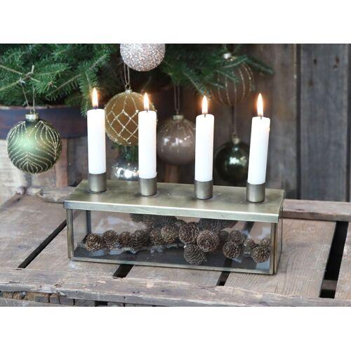 CA AdventskerzenhalterDeckel 4 Kerzen von Chic Antique