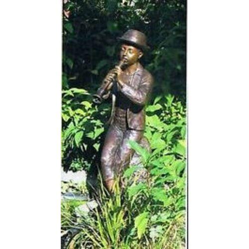 dsf Bronzefigur Flötenspieler Groß