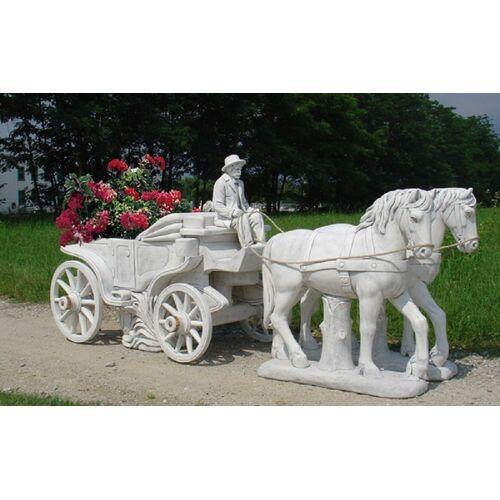 dsf Gartenfigur Pferdekutsche