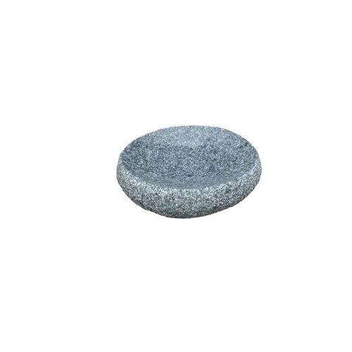 GK Granitvogeltränke rund, grau von Naturstein Geukes