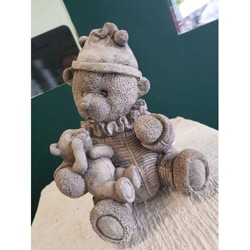 dsf Gartenfigur Teddy mit Babyteddy