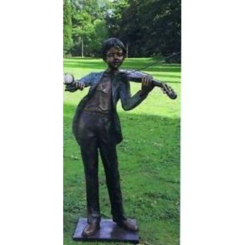 dsf Bronzefigur Geigenspieler