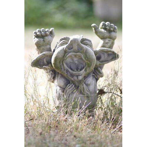 """VF Gartenfigur Troll gähnend """"DORIAN"""", Steinguss"""