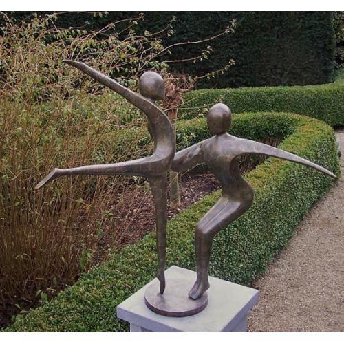 dsf Bronzefigur Abstraktes Tanzpaar