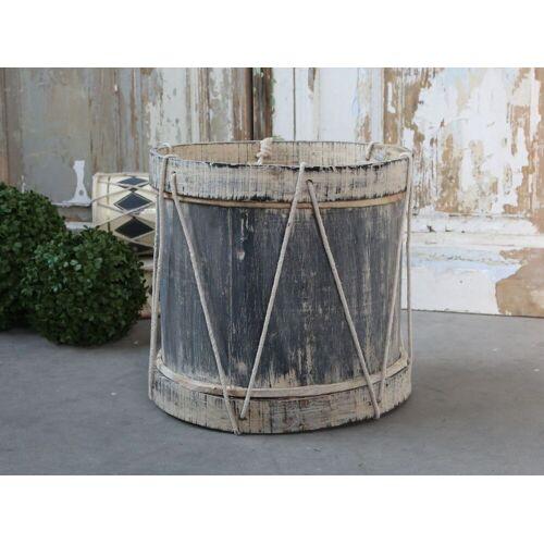 CA Vintage Trommel mit Leder handgemacht von Chic Antique