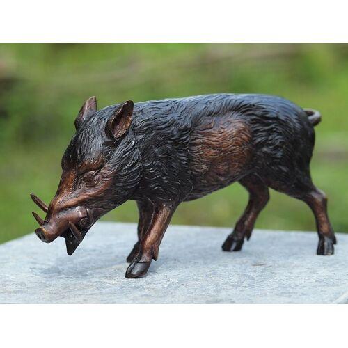 TB Bronzefigur Wildschwein klein