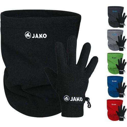 Jako Fleece Set / Neckwarmer + Handschuhe