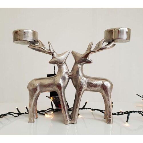 "Diga Colmore Kerzenhalter / -leuchter ""Deer"" Alu massiv Höhe 24cm"