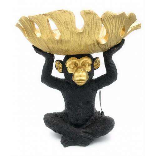 Diga Colmore Colmore Schale Monkey Bowl schwarz-gold Höhe 25cm