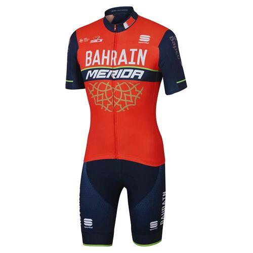 Sportful Set BAHRAIN-MERIDA 2017 (Radtrikot + Radhose), für Herren, Fahrradbekl