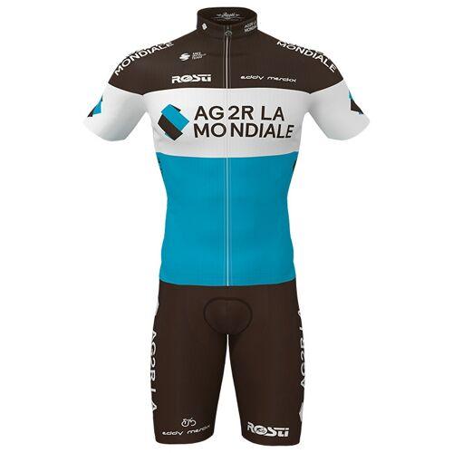Rosti Set AG2R LA MONDIALE 2020 (Radtrikot + Radhose), für Herren, Fahrradbe