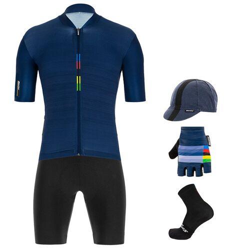 Santini Maxi-Set UCI Rainbow 2020 (5 Teile), für Herren, Fahrradbekleidung
