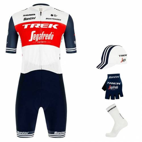 Santini Maxi-Set TREK-SEGAFREDO 2020 (4 Teile), für Herren, Fahrradbekleidung