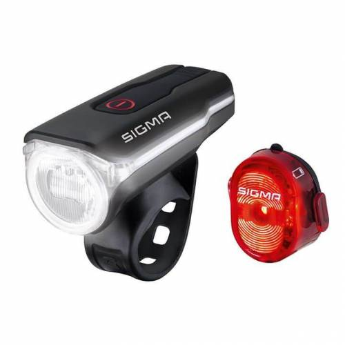 Sigma Beleuchtungsset Aura 60 USB LED/Nugget II, Fahrradlicht, Fahrrad