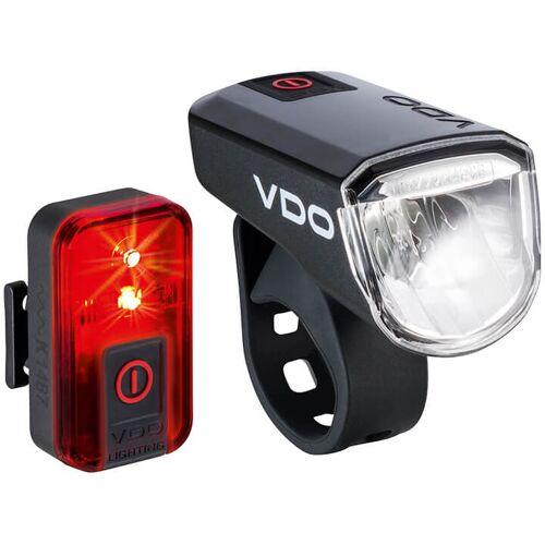VDO Beleuchtungsset ECO Light M30+Red, Fahrradlicht, Fahrradzubehör