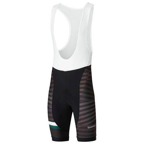 Shimano Team kurze Trägerhose, für Herren, Größe L, Fahrradhose, Radbe