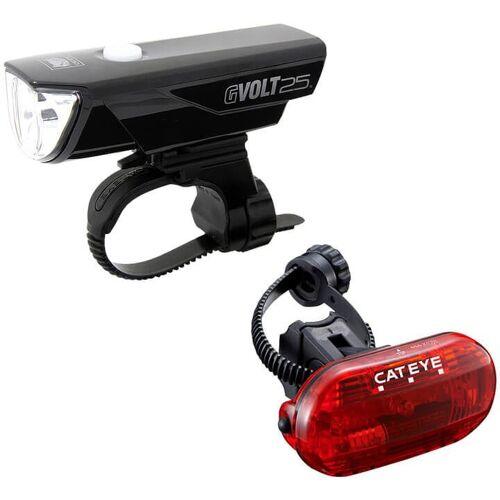 CATEYE Beleuchtungsset Gvolt25 +OMNI 3G EL360GRC/LD135G, Fahrradlicht,