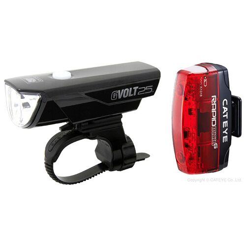 CATEYE Beleuchtungsset Gvolt75 Rapi Micro EL360G+TL-LD620G, Fahrradlic
