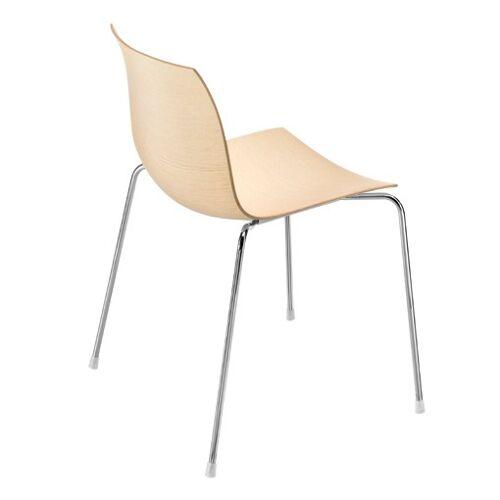 Arper CATIFA 46 0351 Stuhl Vierfuß Holzschale