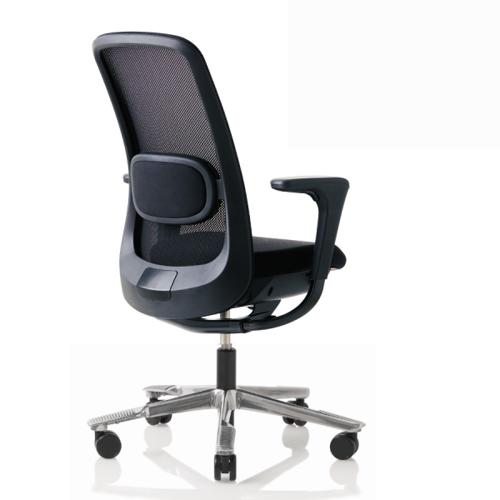 HAG SoFi Mesh 7500 Bürostuhl schwarz mit Fußkreuz poliert