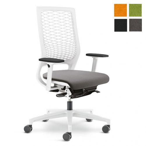 Klöber MERA 88 mit Kunststoffnetzrücken weiß Bürostuhl