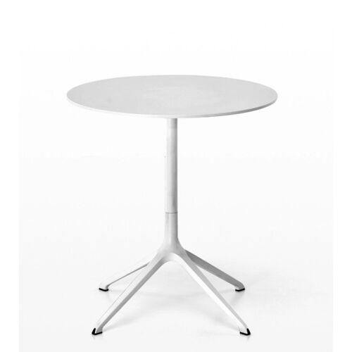 Kristalia ELEPHANT Double Tisch rund, weiß