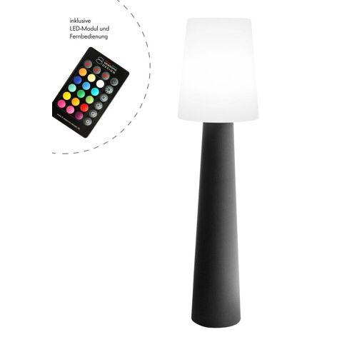 """Outdoor XL Stehlampe No. 1 """"Grau"""" H:160cm - LED Modul - Außenleuchte IP44"""