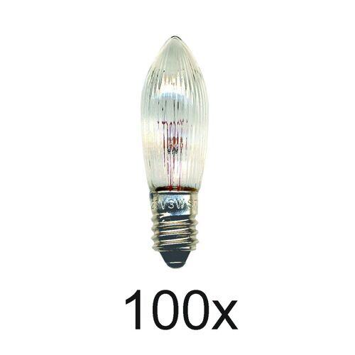 Ersatzlampen 100er Set - E10 - 34V - 3W - klar
