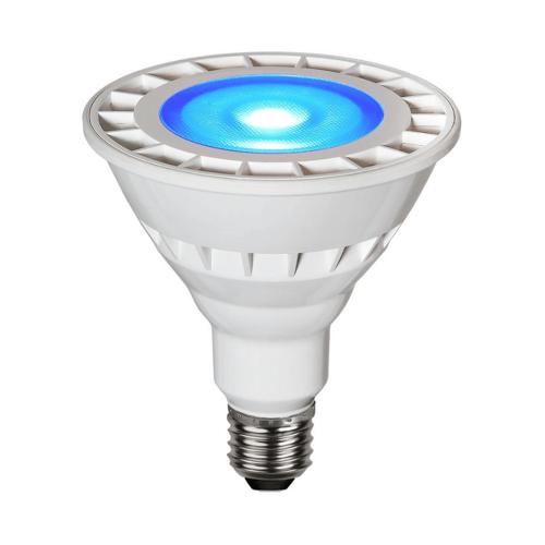 Garten-Spot-Leuchtmittel Blau   LED   Uplight   E27   PAR38   15W   35°