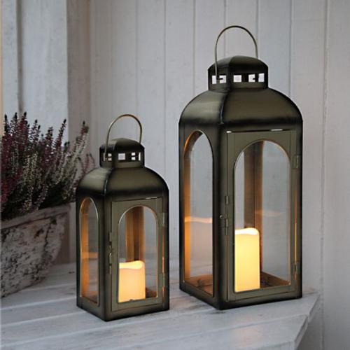 LED-Laterne   Dome   1x LED-Kerze   flackernde LED   ↑43cm