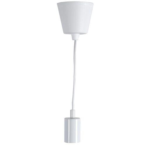 """Lampenfassung/Deckenleuchte """"Stil"""" - E27 Fassung - L: 1,5m - weißes Kabel - weiße Fassung"""