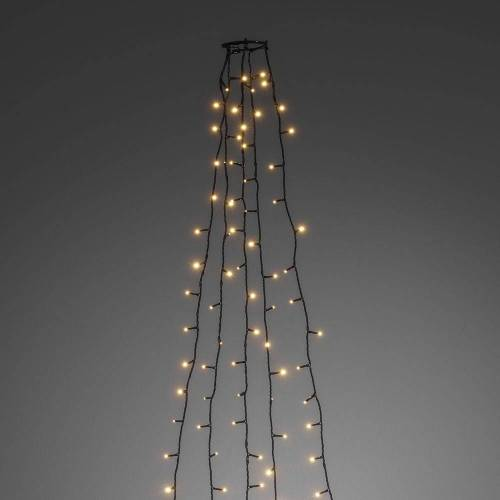 LED Baummantel Lichterkette - 5 x 2,40m - 5 Stränge mit jeweils 40 Ultra Warmweiß LEDs - Indoor