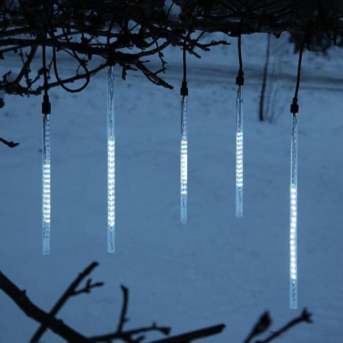 LED-Schneefall-Lichterkette - Snowmotion Line Outdoor - Grundset - 11,00m - 5 Stäbe (30+45cm)